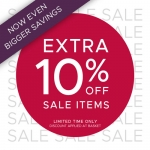 F.Hinds Jewellers: Extra 10% off jewellery from the sale