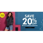 Fashion World: 20% off british summer essentials