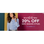 Fashion World: 20% off new season styles