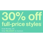 Gap: 30% off full-price styles