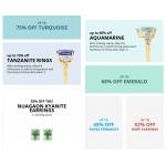 Gemporia: Sale up to 75% off gemstones jewellery