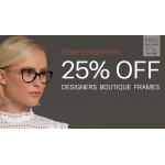 Glasses Direct: 25% off designers boutique frames