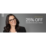 Glasses Direct: 25% off designer boutique frames
