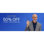 Glasses Direct: 50% off frames + free second pair