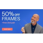 Glasses Direct: 50% off frames + free 2nd pair