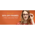 Glasses Direct: Sale 50% off frames + free second pair