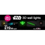 HMV: 50% off 3D wall lights from Star Wars