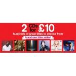 HMV: 2 CDs for £10