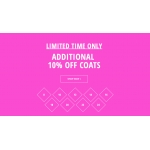 Just Last Season: additional 10% off coats
