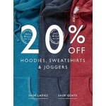 Jack Wills: 20% off hoodies, sweatshirts & joggers