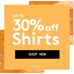Jacamo: up to 30% off shirts