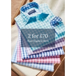 Joseph Turner: 2 gingham shirts for £70