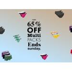 Kiniki: 65% off multi underwear packs