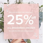 Little Mistress: 25% off all bridesmaid dresses