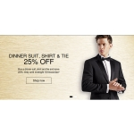 Marks & Spencer: 25% off dinner suit, shirt & tie
