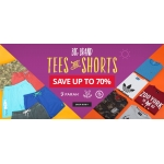 M and M Direct: Sale up to 70% off tees and shorts