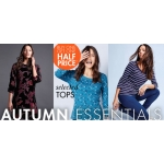 M&Co: buy one get one half price on selected women's tops