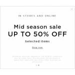 Mango: Mid Season Sale up to 50% off