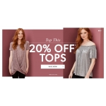 JD Williams: 20% off tops