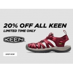 Millet Sports: 20% off keen shoes