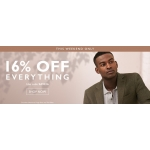Moss Bros: 16% off formal menswear