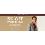 Moss Bros: 15% off menswear