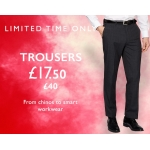 Moss Bros: trousers from chinos to smart workwear for £17,5