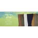 Moss Bros: formal trousers and chinos for £17,5