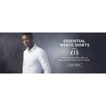 Moss Bros: essential white shirts from £15
