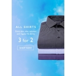 Moss Bros: 3 shirts in the price of 2