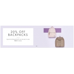 My Bag: 20% off backpacks