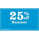 New Look: Summer 25% off