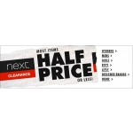 Next: most items half price or less
