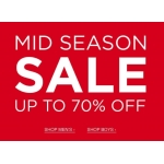 Officers club: Mid Season Sale up to 70% off men's and boy's clothing and accessories