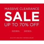 Officers club: Clearance up to 70% off men's and boy's clothing and accessories