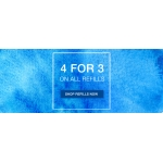 Pen Shop: 4 for 3 off on all refills