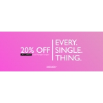 Precis: 20% off women's clothing
