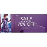 Precis: Sale up to 70% off women's clothing and evening wear