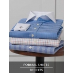 Savile Row: three formal shirts for £75
