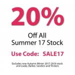 Shoes International: Summer Sale 20% off shoes