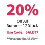 Shoes International: Summer Sale 20% off shoes