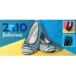 Shoe Zone: 2 pairs of ballerinas for £10