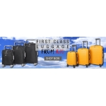 TJ Hughes: first class luggage from £10