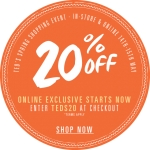 Ted Baker: promotion 20% off everything