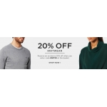 The Hut: 20% off knitwear