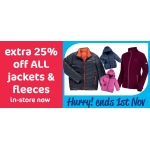 The Original Factory Shop: extra 25% off all jackets and fleeces