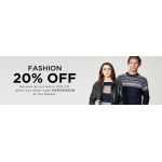 The Hut: 20% off ladies and gents fashion