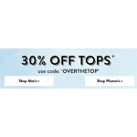 Tokyo Laundry: 30% off women's and men's tops