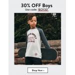 Tokyo Laundry: 30% off boyswear