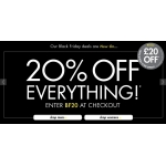 Black Friday USC: 20% off everything